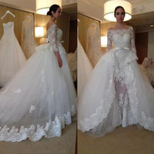 kejiadian mermaid Wedding Dress with detachable train