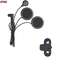 New Soft Eearphone & Clip Accessories Suit for T-COMVB Moto Helmet Bluetooth Intercom Free Shipping!