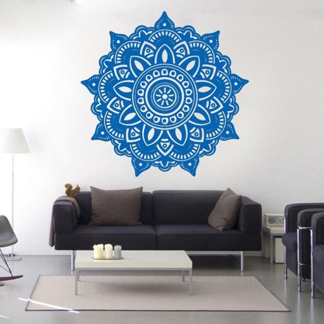 Mandala Blumen Indischen Wandaufkleber Wohnzimmer Schlafzimmer ...