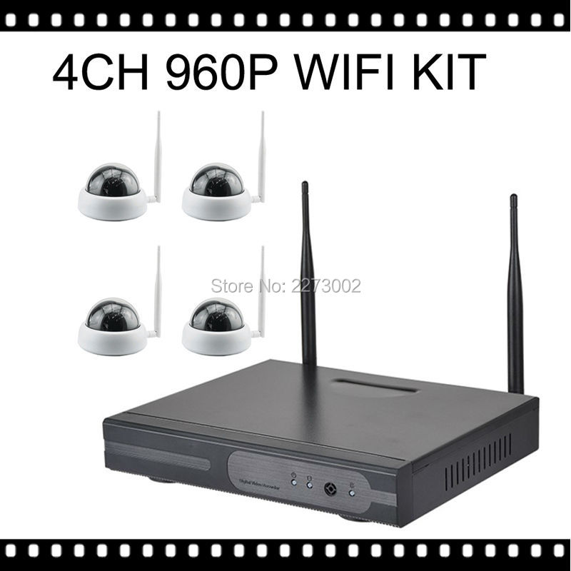 Cctv system 960p 4ch hd wireless nvr kit camara domo ip for Interior home security cameras