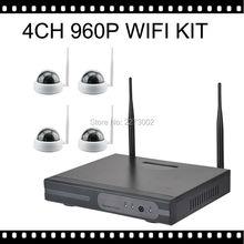 CCTV System 960P 4ch HD Wireless NVR kit Camara domo IP Cam wifi Camera interior Home Security System Surveillance