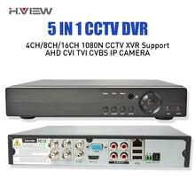 5 IN 1 AHD CVI TVI 4Ch 8Ch 16Ch NVR 1080N Security CCTV DVR NVR XVR Hybrid Video Digital Recorder 1080P Onvif Max 4TB View