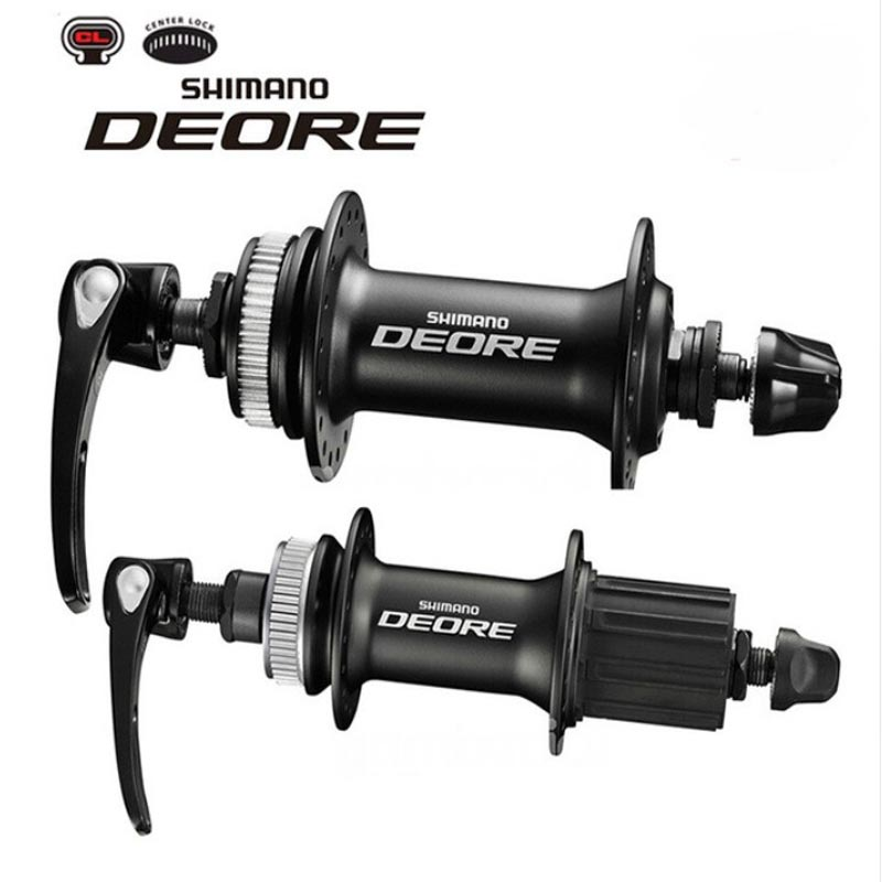 SHIMANO DEORE M615 32 Holes Quick Release Bike Hub Aluminum Alloy Front Rear Hole Bicycle Parts Cycling Disc Brake Bearing Hubs shimano deore m615 32h center lock bicycle hub front
