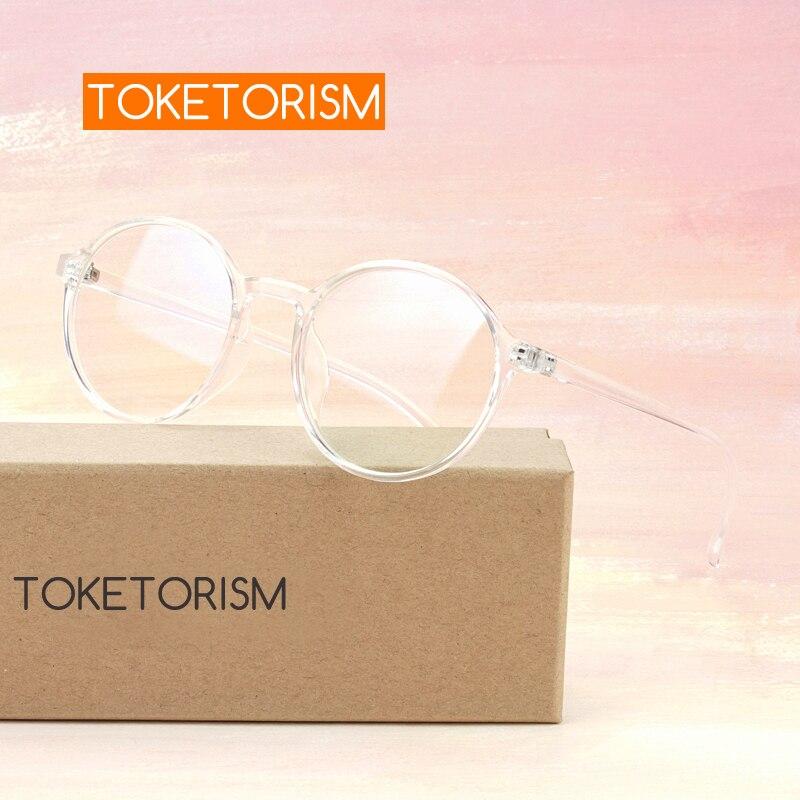 Toketorism retro transparent round glasses unisex spectacles myopia eyeglasses frames 7832
