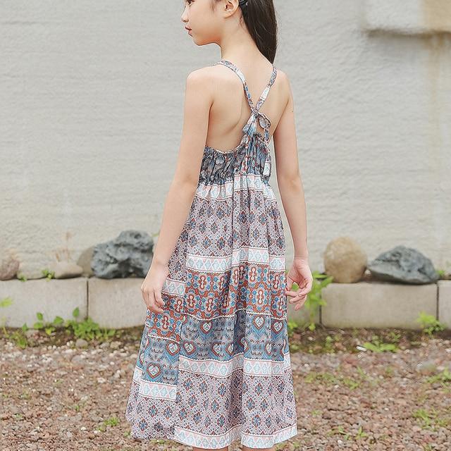 9cbc7df914676 beach toddler teenagers dress for girls strap backless boho long maxi dress  floral summer dress princess