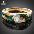 AZORA Gold Plated Stellux Austrian Crystal Oil Painting Pattern Paved Cuff Bangle Bracelet TB0021