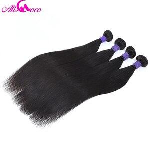 Image 5 - アリココストレートヘアペルーの Remy 毛バンドル 8 30 インチ 100% 人毛ウィービング 1/3/ 4 バンドルナチュラルカラーパーマすることができ