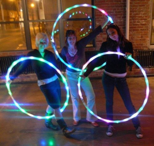 Sport Hoops loose weight materiel sport fitness hoop equipment yoga Circle 90CM 7Color aro LED Flashing Sport body building Hula