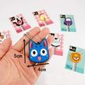 Cartoon Anime Silicone Cute Hello Kitty&Minion Owl Key Cover Key Cap Stitch Keychain Women Key Chain Key Ring Key Holder Gifts