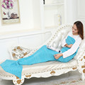 2016high quality sale mermaid Tail costume Kids Girls Mermaid Tail with monofin  Brithday Gift Warm blankets