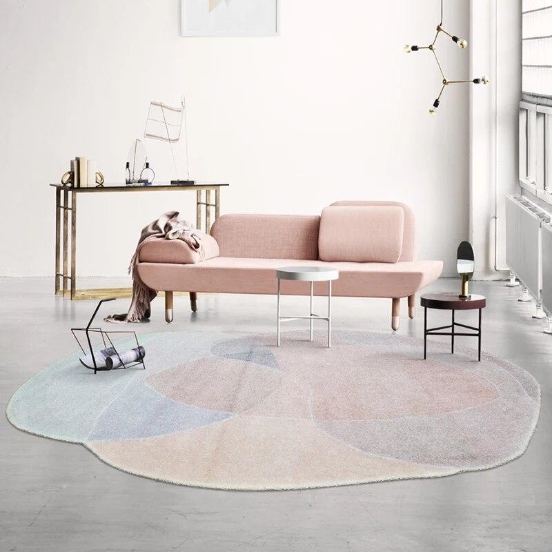 Tapis de salon de montagne de nuages post-moderne en forme Unique, tapis de chevet nordique de grande taille, tapis de table basse de décoration abstraite