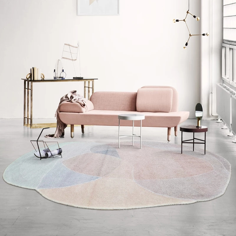 Unique shaped post modern clouds mountain  living room rug,Nordic big size bedside carpet,  abstract decoration coffee table rug-in Carpet from Home & Garden    1