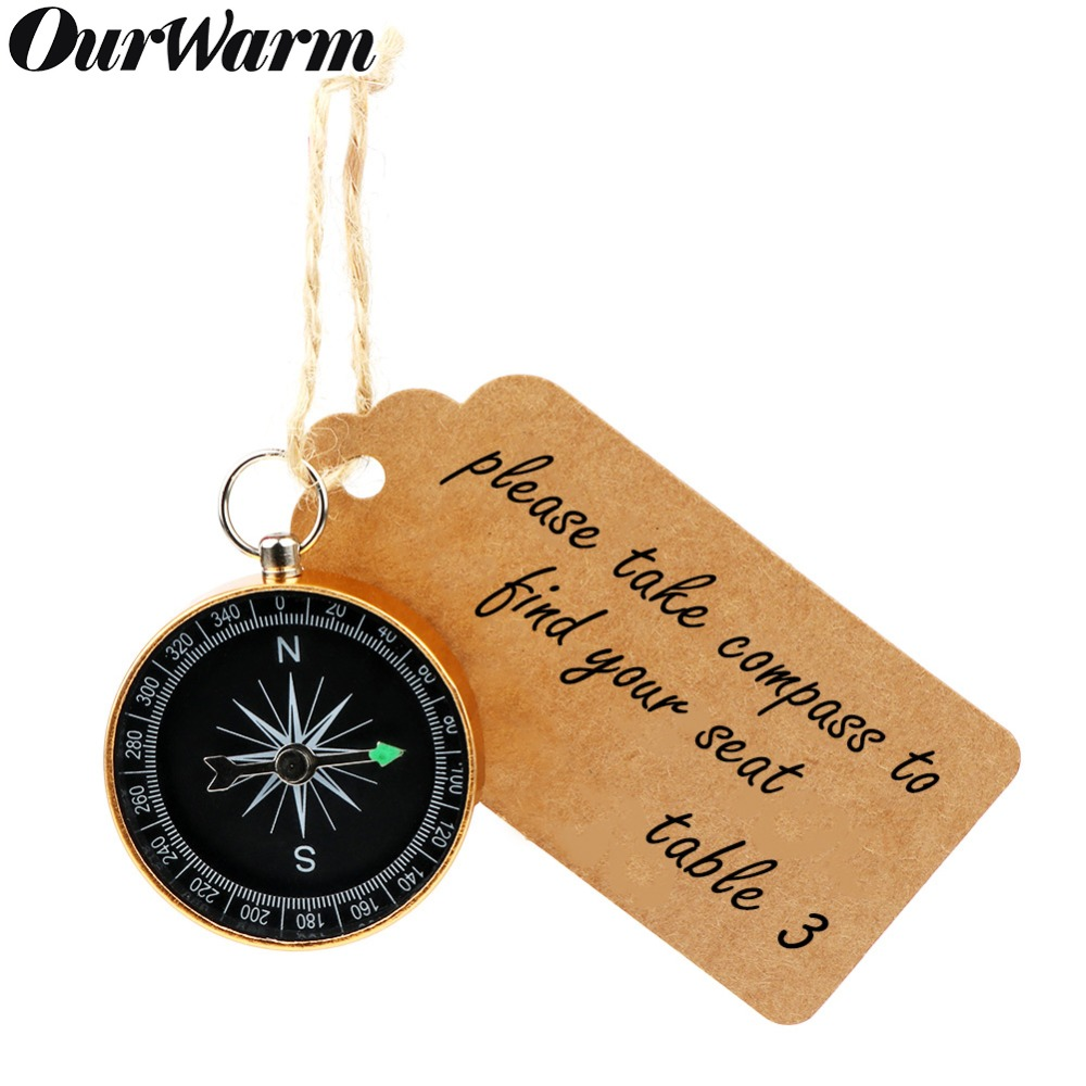OurWarm 20sets Compass+Tags Party Favors For Kids Birthday
