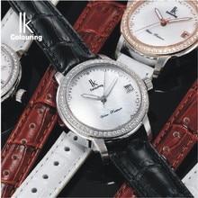 Ik mechanical watch female elegant fashion ladies watch ladies watch strap rhinestone waterproof watch