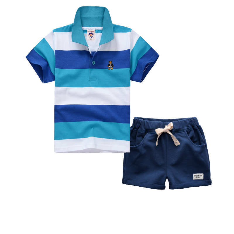 High Quality Kids Boys Clothes Set Casual Children's Set Soft Cotton Baby Boy Summer Set Polo Shirts And Pants