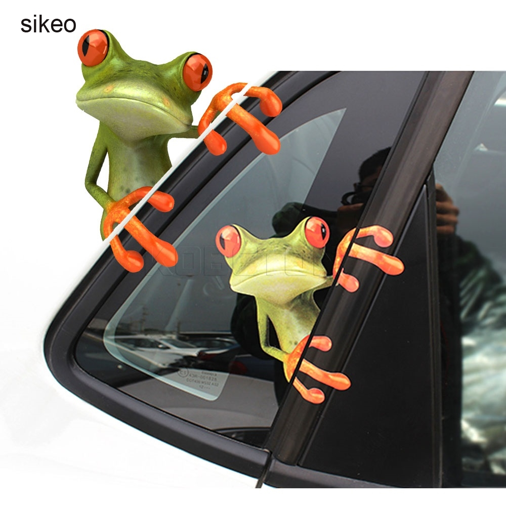 Sikeo Funny Frogs 3D frog Bicycle Stickers  styling vinyl sticker decoration Bicycle Stickers Decal brompton stickers