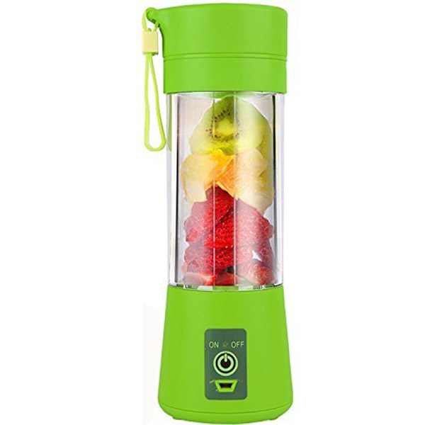 цена на USB Juicer Cup, Portable Juice Blender, Household Fruit Mixer - Six Blades, 400ml Fruit Mixing Machine with USB Charger Cable