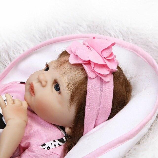 Full Silicone body Reborn Girl Baby Doll Toy Newborn Princess Toddler Babies Dolls 2