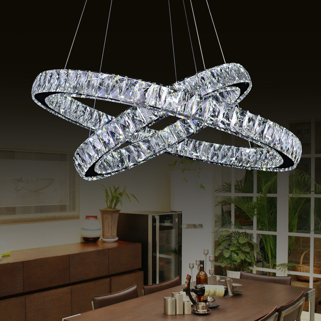 Aliexpress.com : Buy led chip double ring crystal chandelier ...