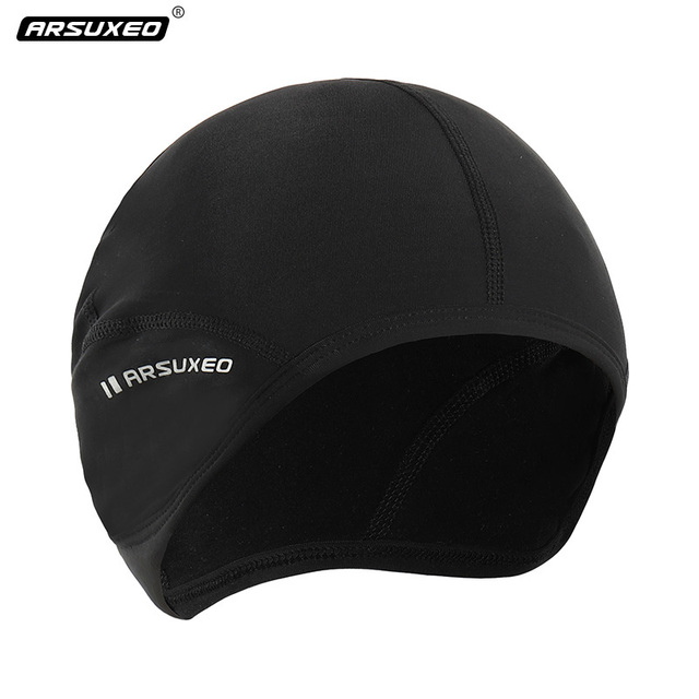 7ecd1cdc68775 Winter Windproof Men s Cycling Cap Protection Ear Warm Up Thermal Fleece  Running Cap Head Warmer Elastic Outdoor Sports Caps