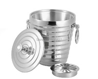 Top Grade Stainless Steel Cubes Barrel Ice Container Barrel Bucket Beer Wine Cooler Champagne 1L
