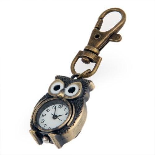 YCYS-Keychain Clock Keyring Owl Shape 37x24mm