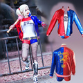 New Suicide Squad Harley Quinn Costume Female Clown Cosplay Clothing Halloween Costumes For Women Coat Jacket One Set Uniform