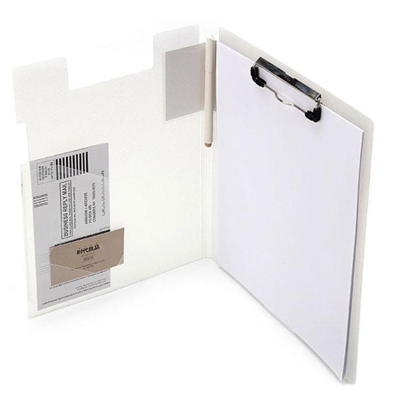 Novo multi-função pasta com elástico clipe placa pasta adequado para arquivos a4 caneta cartão de acabamento de armazenamento para escritório e escola