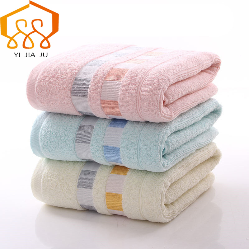 100% Cotton Gauze Color Grid Beach Towel For Adults Fast Drying Soft Thick High Absorbent Antibacterial Bath Towel