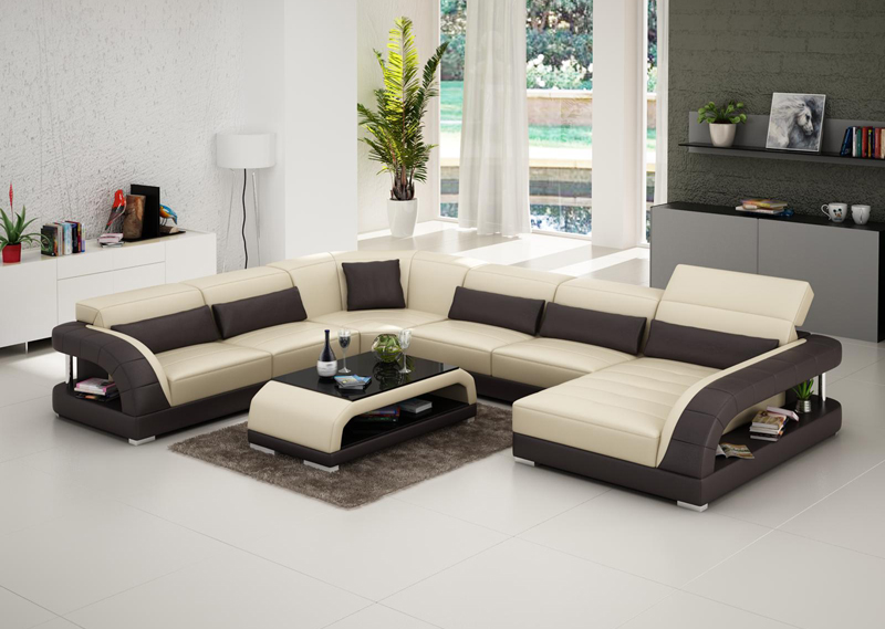 Cheap price new design modular set living room leather for New drawing room sofa designs