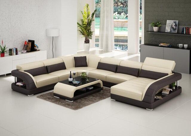Precio barato Nuevo Diseño Modular Juego de Sala Sofá De Cuero G8016 ...
