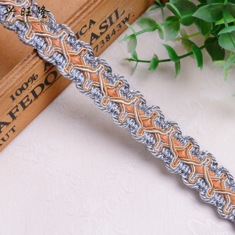 Home & Garden Xwl 20m/lot 2.2cm Wide Small Curtain Lace Trims Sofa Lamp Clothing Curtain Accessories Lace Ribbon Belt Diy Sewing Trim Decor