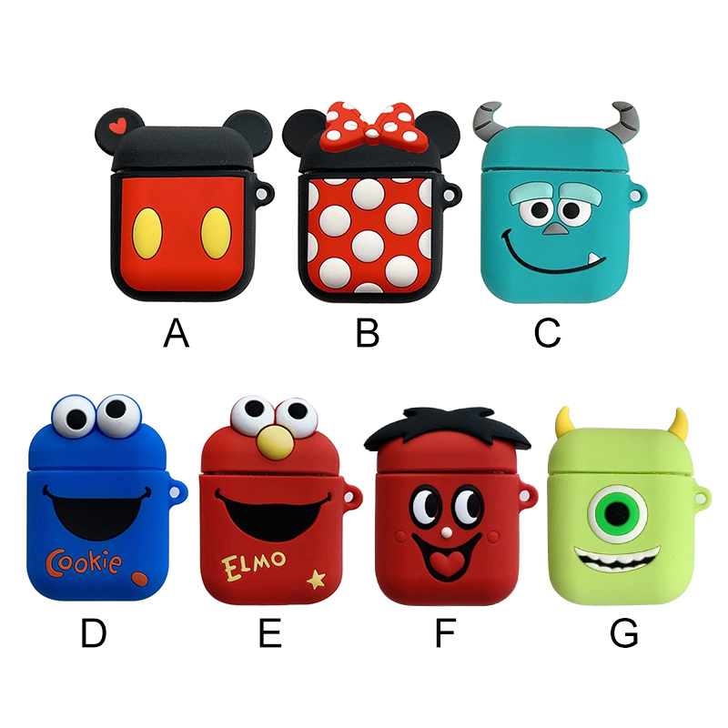 Airpods Charging Case | Newly  Earphone Case Headset Cover For Apple Airpods Charging Case 3D Cartoon Color Cute Disney Earphones Box For Airpod Case