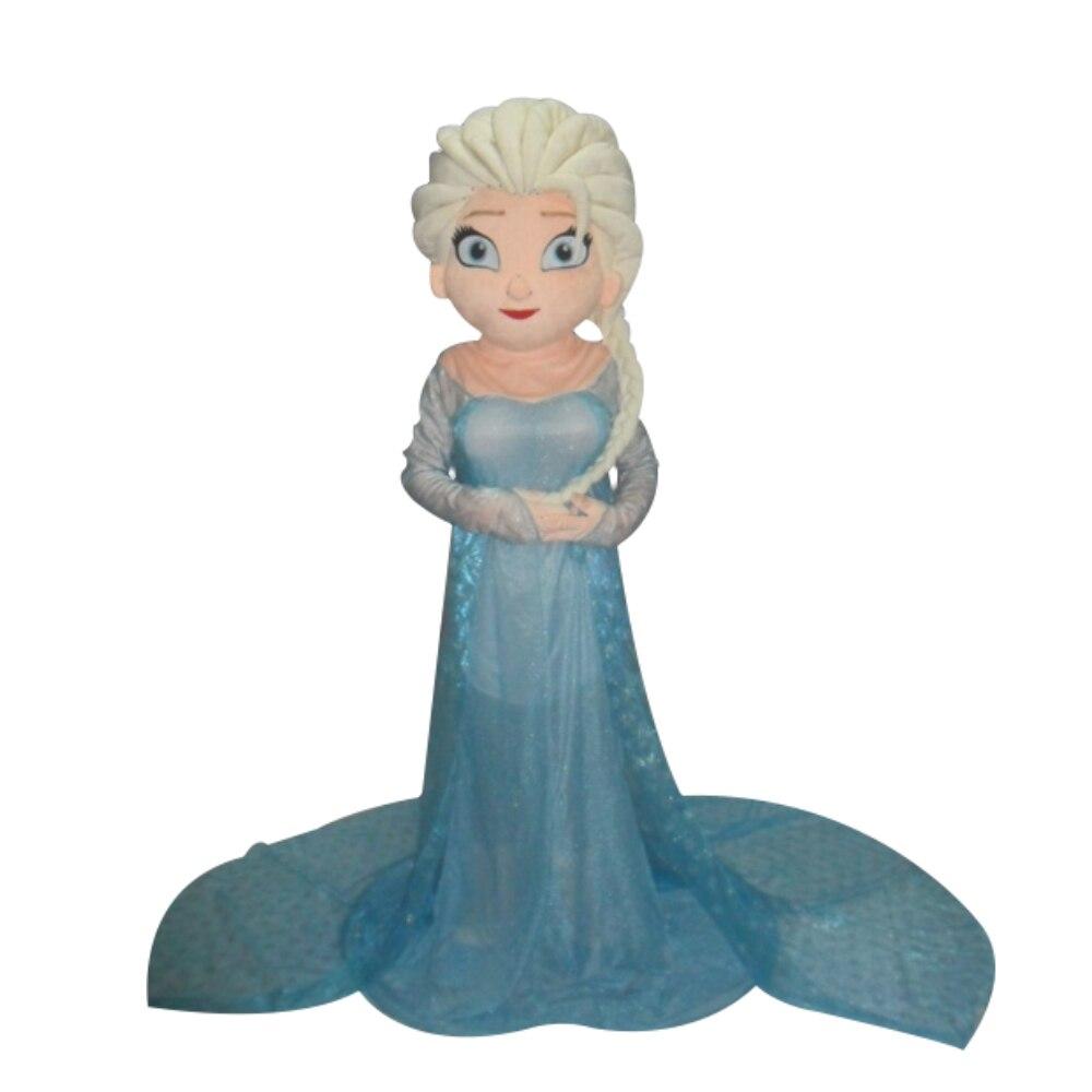 Vendita calda Personaggio Dei Cartoni Animati Principessa elsa Dress Hot Movie Elsa Costume Della Mascotte A Tema Libero di trasporto