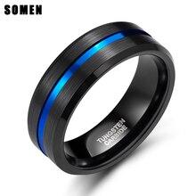 แหวนทังสเตนคาร์ไบด์สีดำสำหรับงานแต่งงานแหวนแฟชั่นเครื่องประดับ Mens Masonic Bague