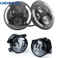 For Jeep Wrangler TJ JK Dot EMARK Approved 7Inch H4 Led Car Front Headlights 2pcs 4