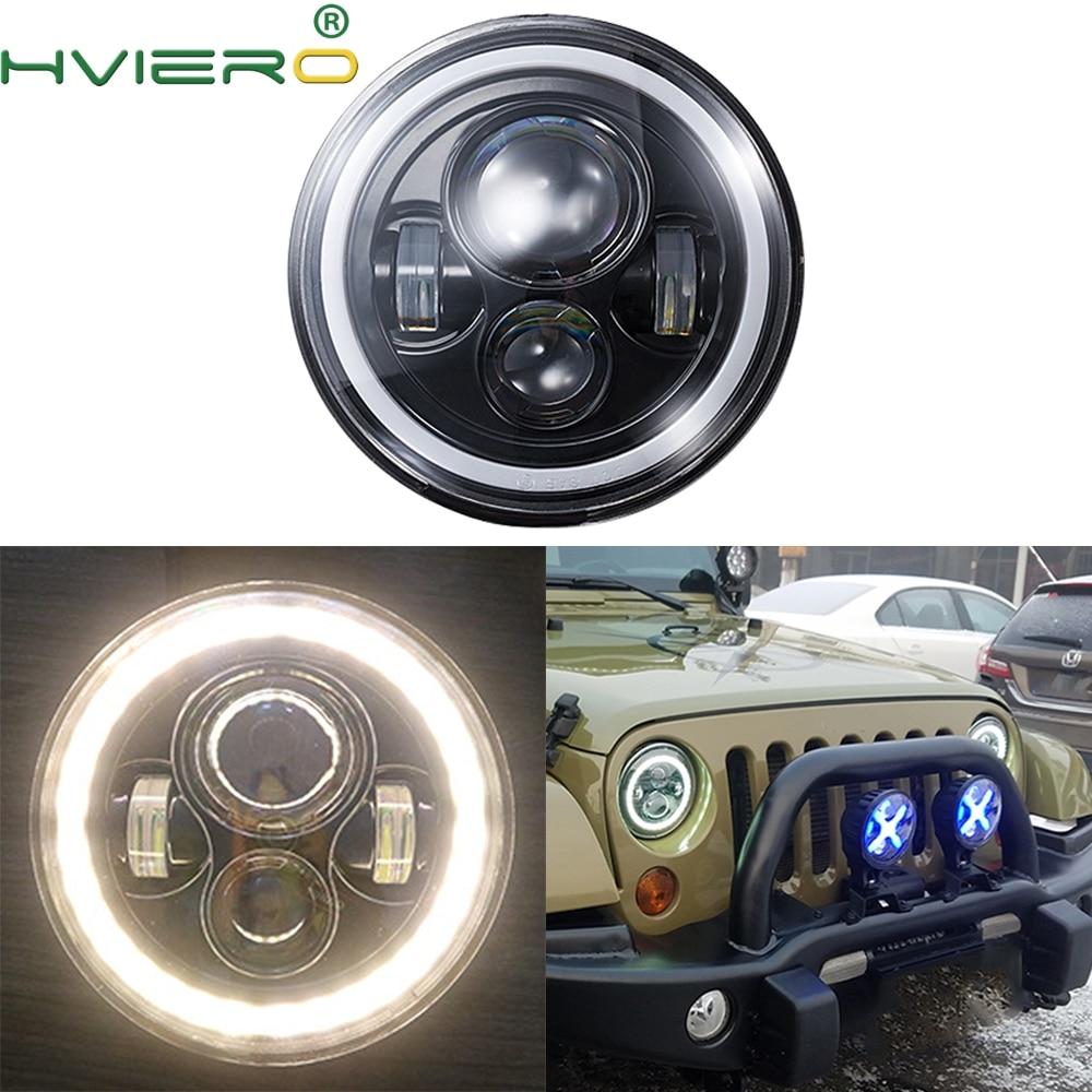 7 pouces Moto lumineux phare LED 12V 45W Moto travail Spot lumières phare 6500k lumières auxiliaires LED ampoule intelligente