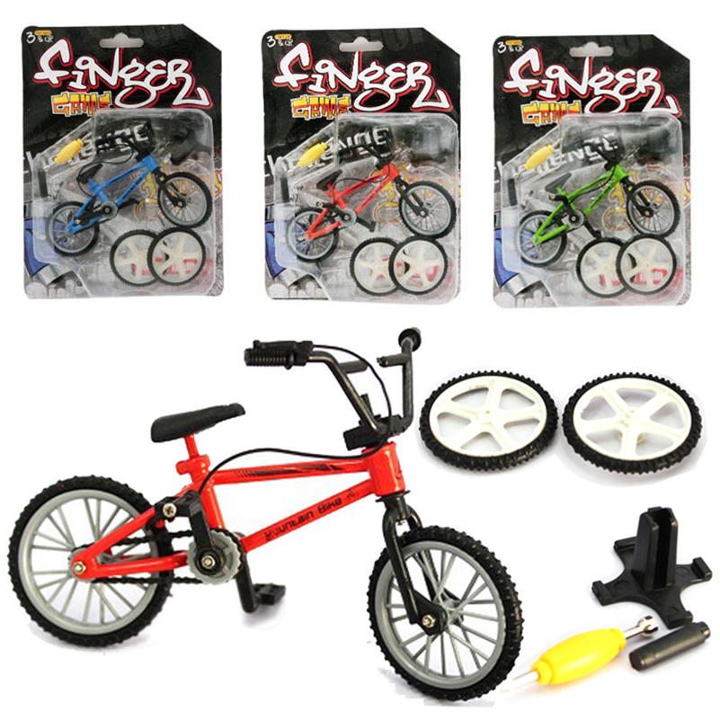 Mini Finger BMX Bicycle Kit Flick Trix Finger Bikes Toys Accessories Tool BMX Bicycle Model Tech Deck Gadgets Novelty Gag Toys