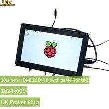 10,1 дюймовый емкостный сенсорный ЖК-экран 1024x600 для Raspberry Pi Jetson Nano HDMI дисплей с акриловым корпусом для Великобритании