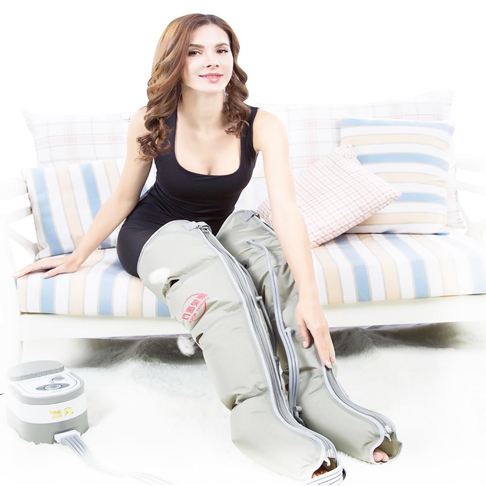 Personnes âgées pneumatique jambe masseur pétrissage pied masseur électrique air vague pression thérapie de massage physiothérapie instrument
