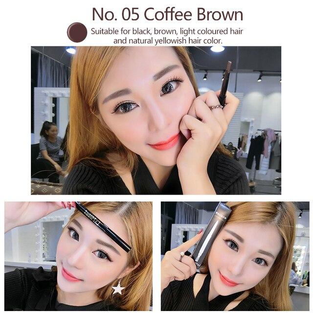 LAMILEE Brand Eye Brow Tint Cosmetics Natural Long Lasting Paint Tattoo Eyebrow Waterproof Black Brown Eyebrow Pencil Makeup Set 4