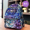 free shipping 2017 New Arrival Women All-match Bag PU Leather Sequins Backpack Girls Small Travel Princess Bling Backpacks