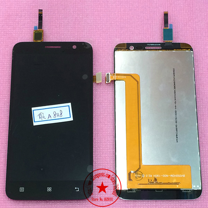 TOP Quality Black WHITE A8 Full LCD Display + Touch Screen Assembly For Lenovo A806 A808t Smartphone Replacement Free Shipping