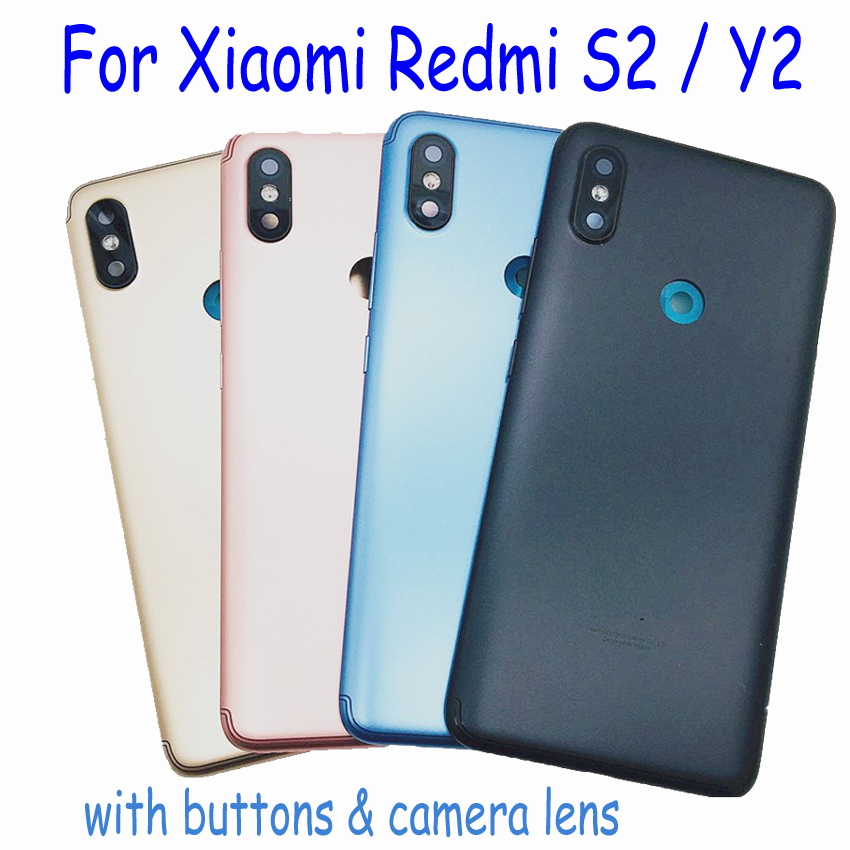 Original For Xiaomi <font><b>Redmi</b></font> S2 Y2 <font><b>6</b></font> PRO Note 5 plus Note6 Back <font><b>Battery</b></font> Door Housing Cover <font><b>Case</b></font> With buttons & Camera Glass Lens image