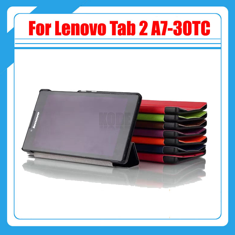 Magnetic Stand pu leather Case cover for Lenovo Tab 2 A7 30 A7-30 A7-30HC A7-30TC tablet cases + screen protectors + stylus new slim folio bracket for lenovo a7 20f standing tablet cover for lenovo tab 2 a7 20 flip protective tablet case