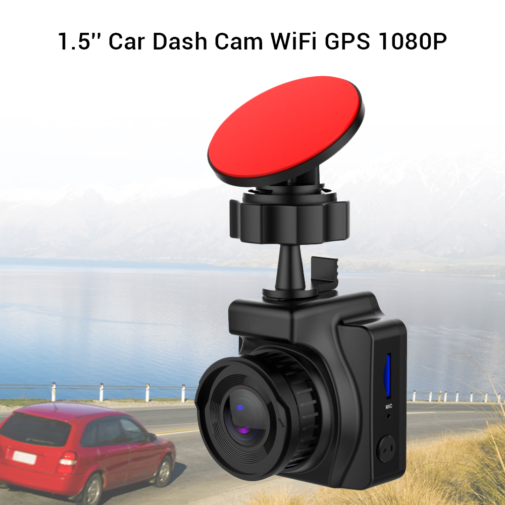 "Car DVR Dash Camera GPS WIFI Novatek 96658 avtoregistrator Full HD 1080P Car DVRs 1.5"" IPS Screen Car Recorder Dash Cam"
