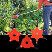 Brush Cutter Metal Blades Trimmer Head For Lawn Mower Garden Grass Trimmer Head Practical Grass  6 Teeth Trimmer Head