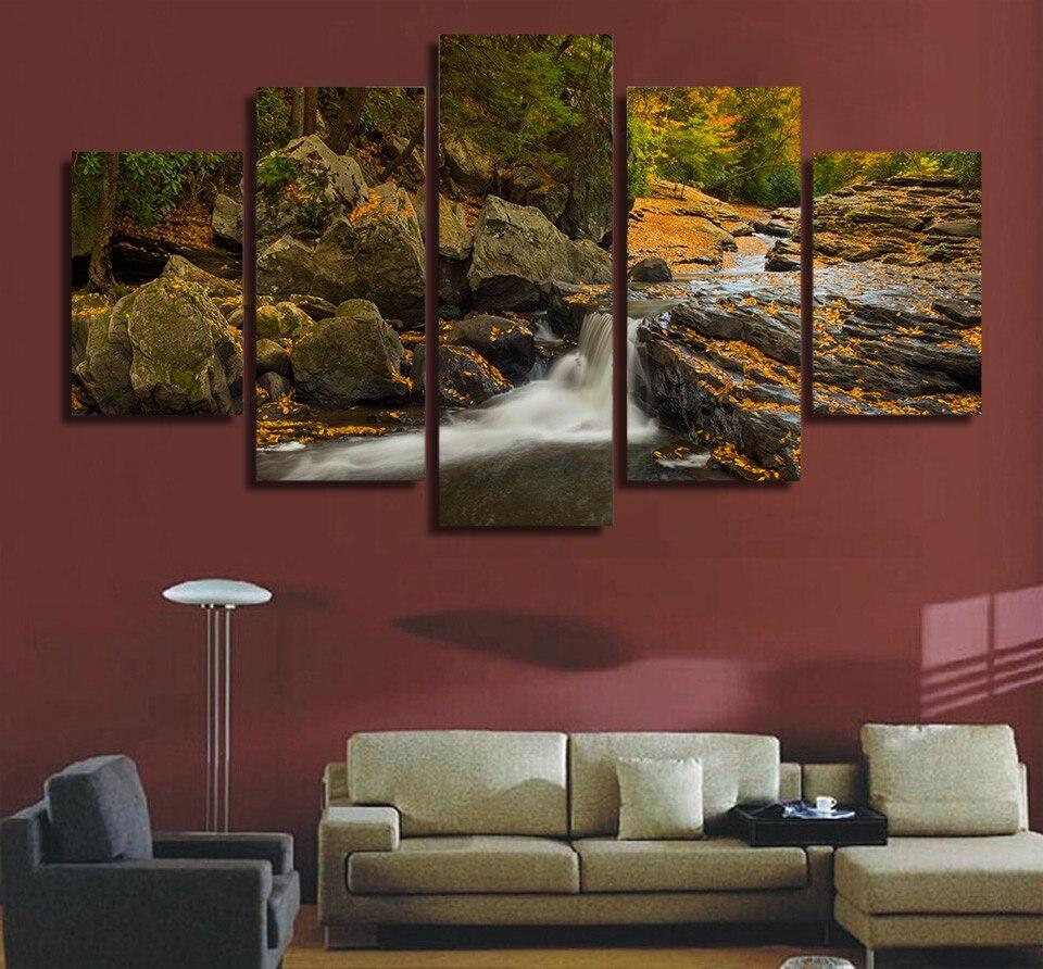 Aliexpress.com: Comprar Pintura de la Lona sin marco 5 Unids Meadow ...