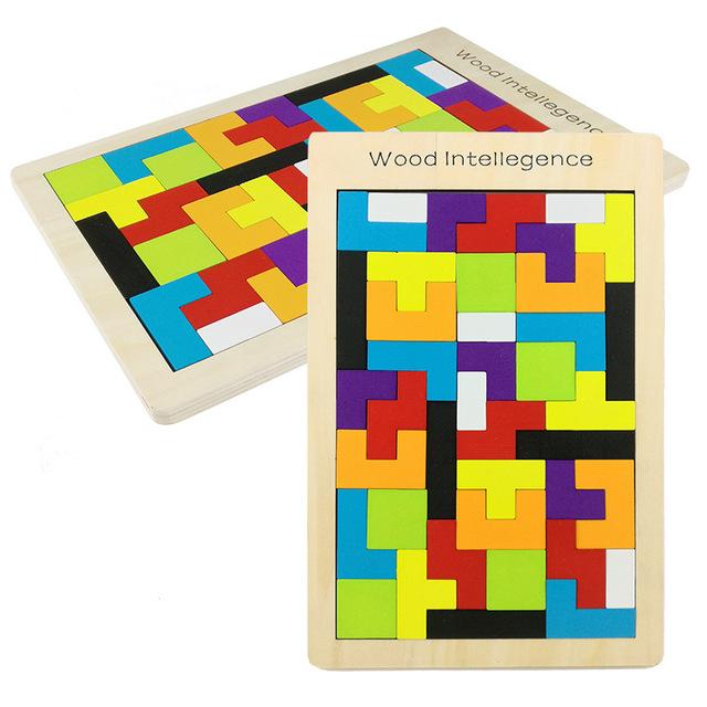 Kids Wooden Puzzle Tetris