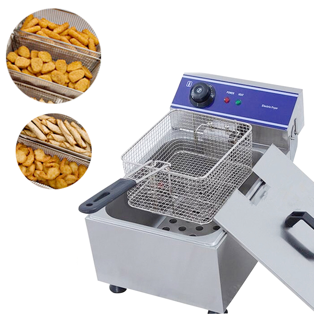 TAIMIKO Deep fryer commercial chicken grill machine high quality kitchen equipment for frying French Fries chicken wings etcTAIMIKO Deep fryer commercial chicken grill machine high quality kitchen equipment for frying French Fries chicken wings etc